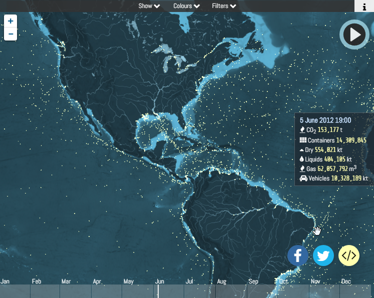 This Mesmerizing Interactive Map Displays Ship Movements Across The - Interactive globe map