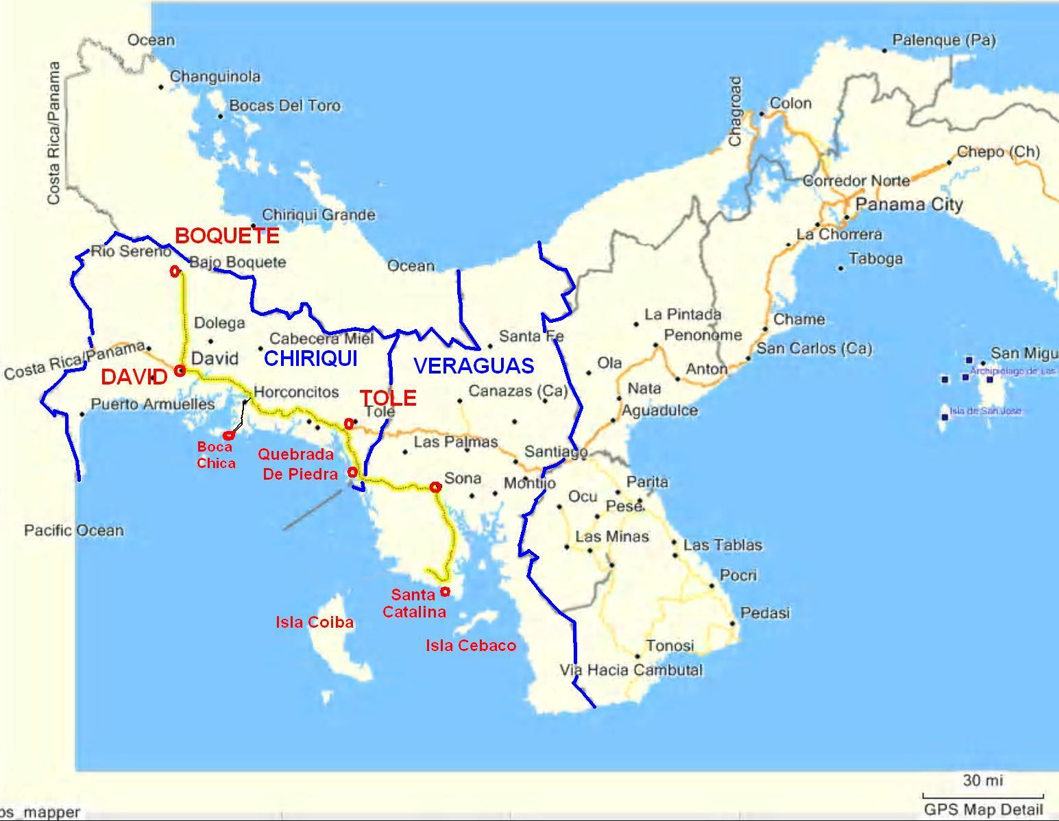 David Panama Map